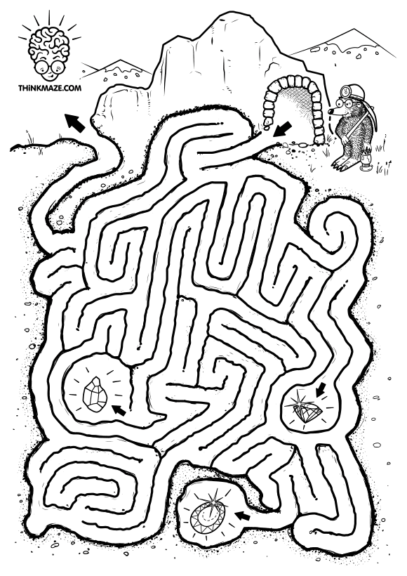 maze for kids to print out