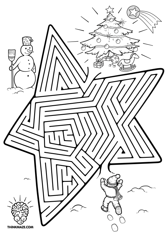 free christmas maze for kids