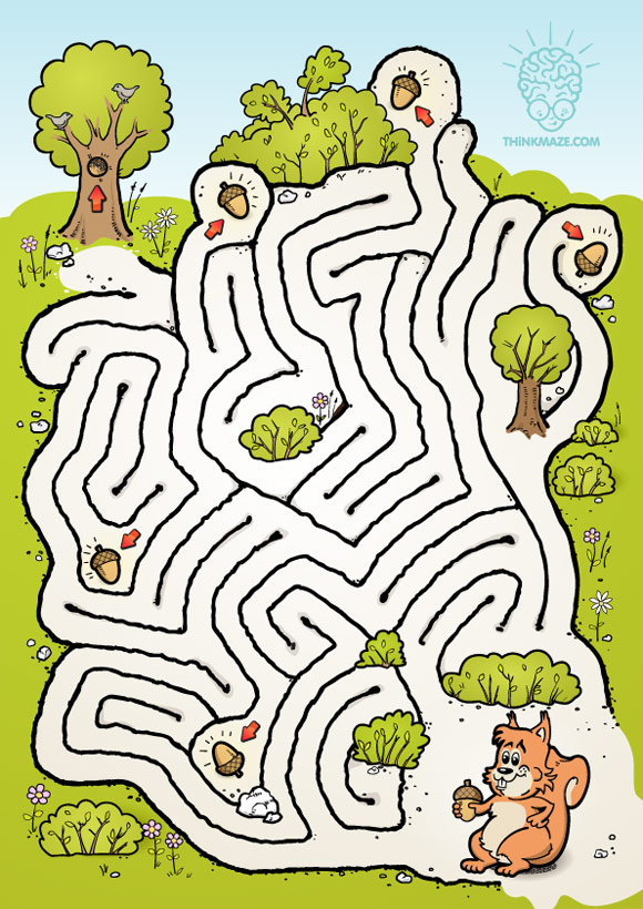 Nutty Squirrel Maze