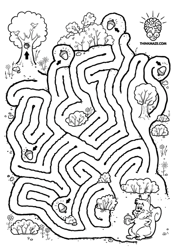 Nutty Squirrel Maze to print