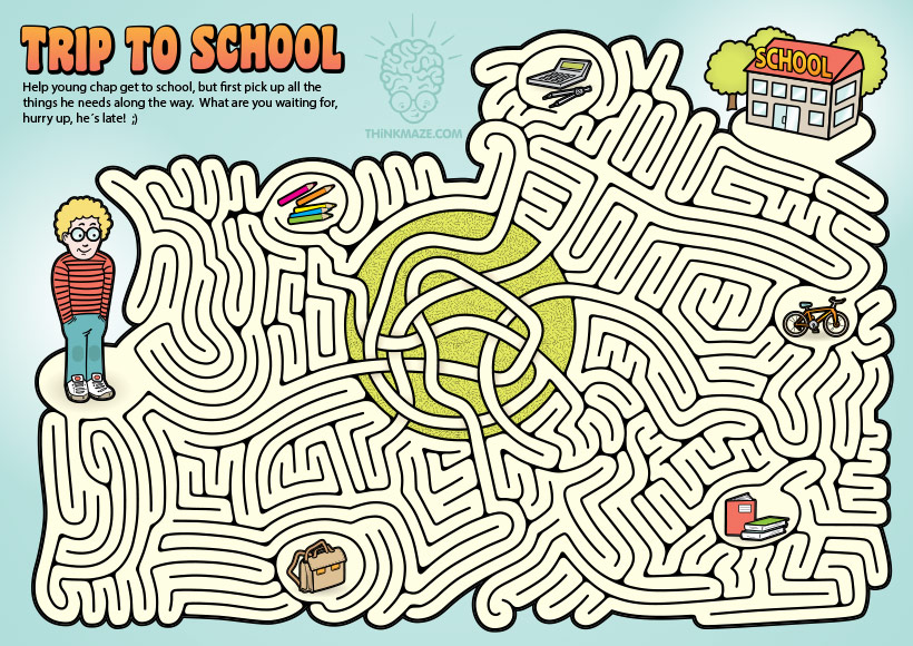 Trip to School Maze by ThinkMaze