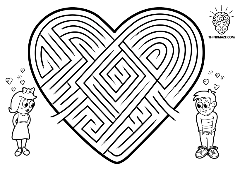 valentine maze print out